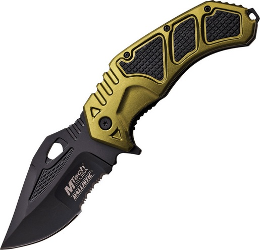 MTech A873GN Linerlock Assist Open Black Combo/Green Folding Knife Pocket Folder