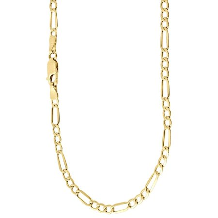 Jewelers 4.2MM Figaro Chain Necklace in 14K Solid Gold BOXED