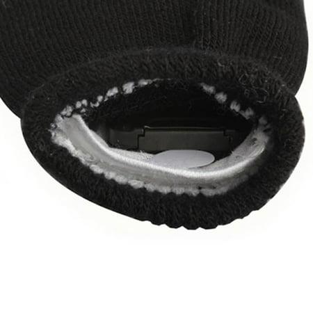 Flashing Gloves Glow 7 Mode LED Rave Light Finger Lighting Mitt Black (Rave Led Gloves)