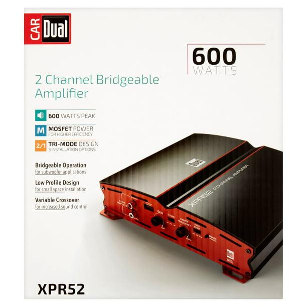Dual XPR52 2-Channel Bridgeable Amplifier - Walmart.com - Walmart.comWalmart.com