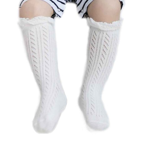 2Pack 0-2/2-4Y Mesh Kids Knee High Socks Infant Baby Hollow Out Socks Cotton Summer Thin Socks](Pink Knee High Socks)