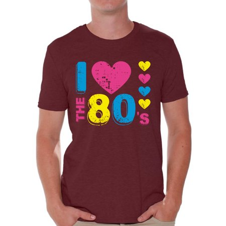 Awkward Styles I Love The 80's Shirt for Men 80's Love Tshirt Men's 80's T Shirt 80's Party Shirts for Men 80's Men's Costumes I Love The 80's Party T-Shirt I Love The 80's Gifts for Him 80's Shirt - I Party Costumes