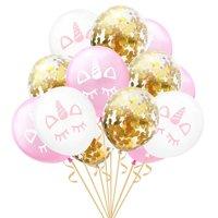 AkoaDa Unicorn Balloons  12 Inch Light Balloons with Confetti Balloon for Party Supplies Graduation Wedding Baby Shower Unicorn Birthday Decorations