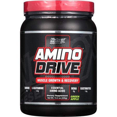 Nutrex Research Amino Drive Muscle Growth   Recovery Green Apple Powder Dietary Supplement  15 3 Oz