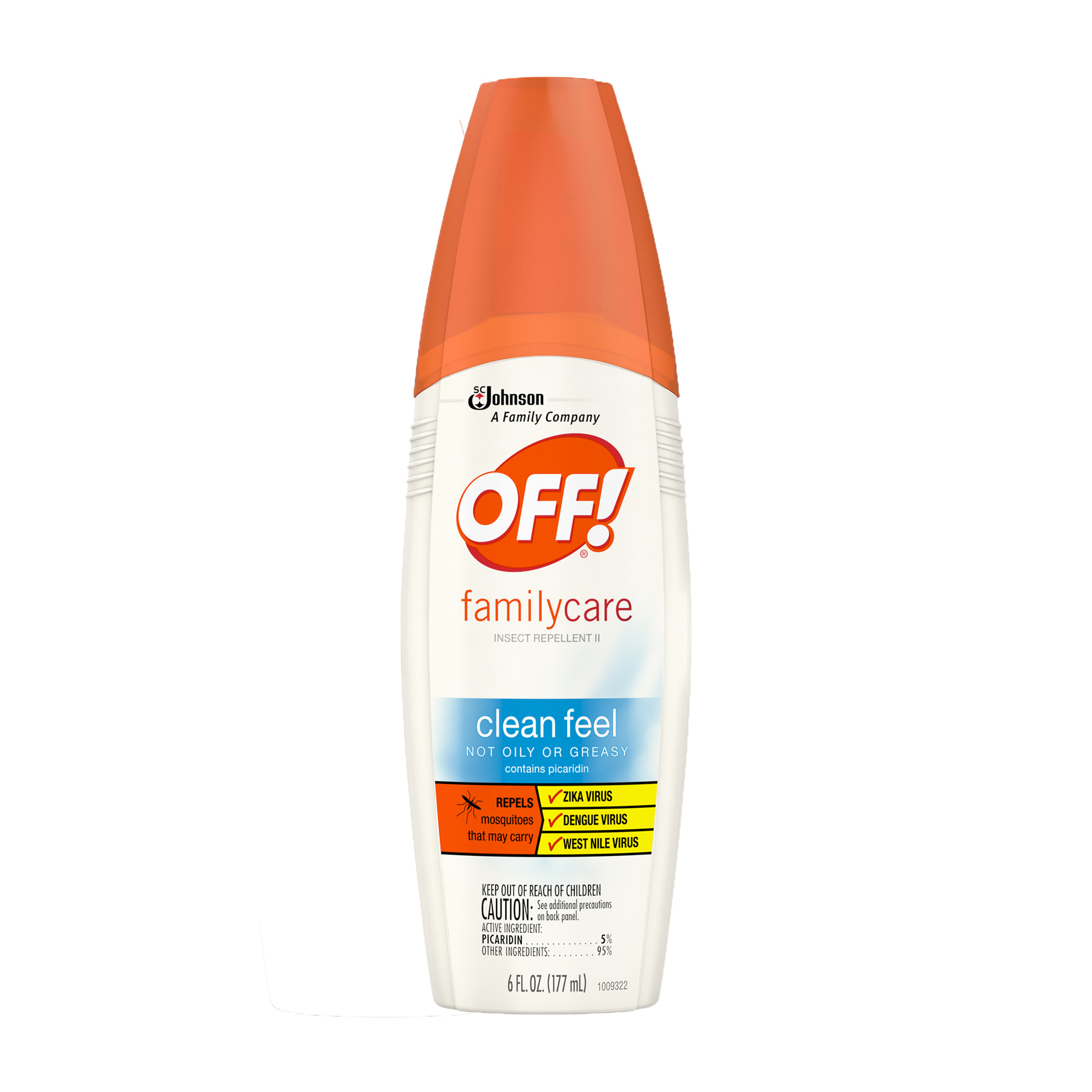 OFF! FamilyCare Insect Repellent II, Clean Feel, 6 Ounces, 1 count