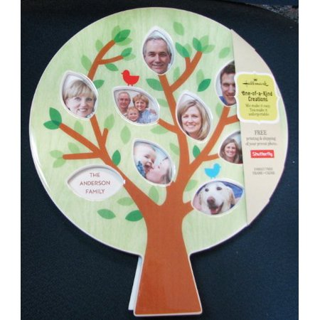 Hallmark Fly1012 Family Tree Shaped Frame  Please Note  Listing Is For The Frame Only   The Shutterfly Code Date Has Expired  By Shutterfly