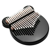 Muslady 17-Key Thumb Piano Black Acrylic Kalimba Mbira Musical Instrument with Carrying Case Tone Stickers Tuning Hammer Wipe Cloth