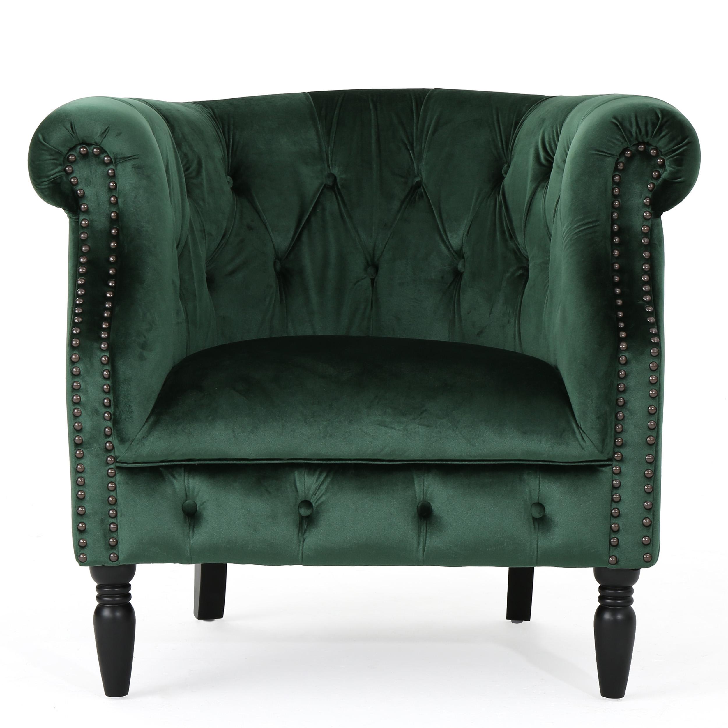 Aries New Velvet Club Chair, Emerald