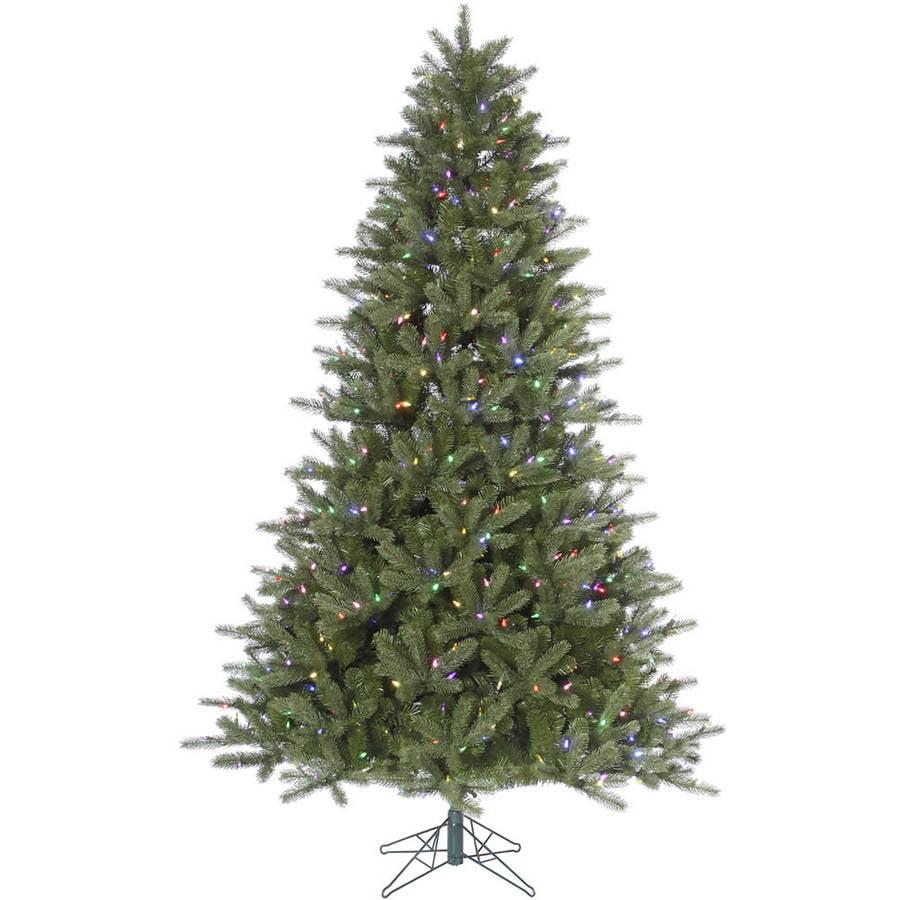 Kennedy Fir Christmas Tree: Vickerman Pre-Lit 7.5' Kennedy Fir Artificial Christmas