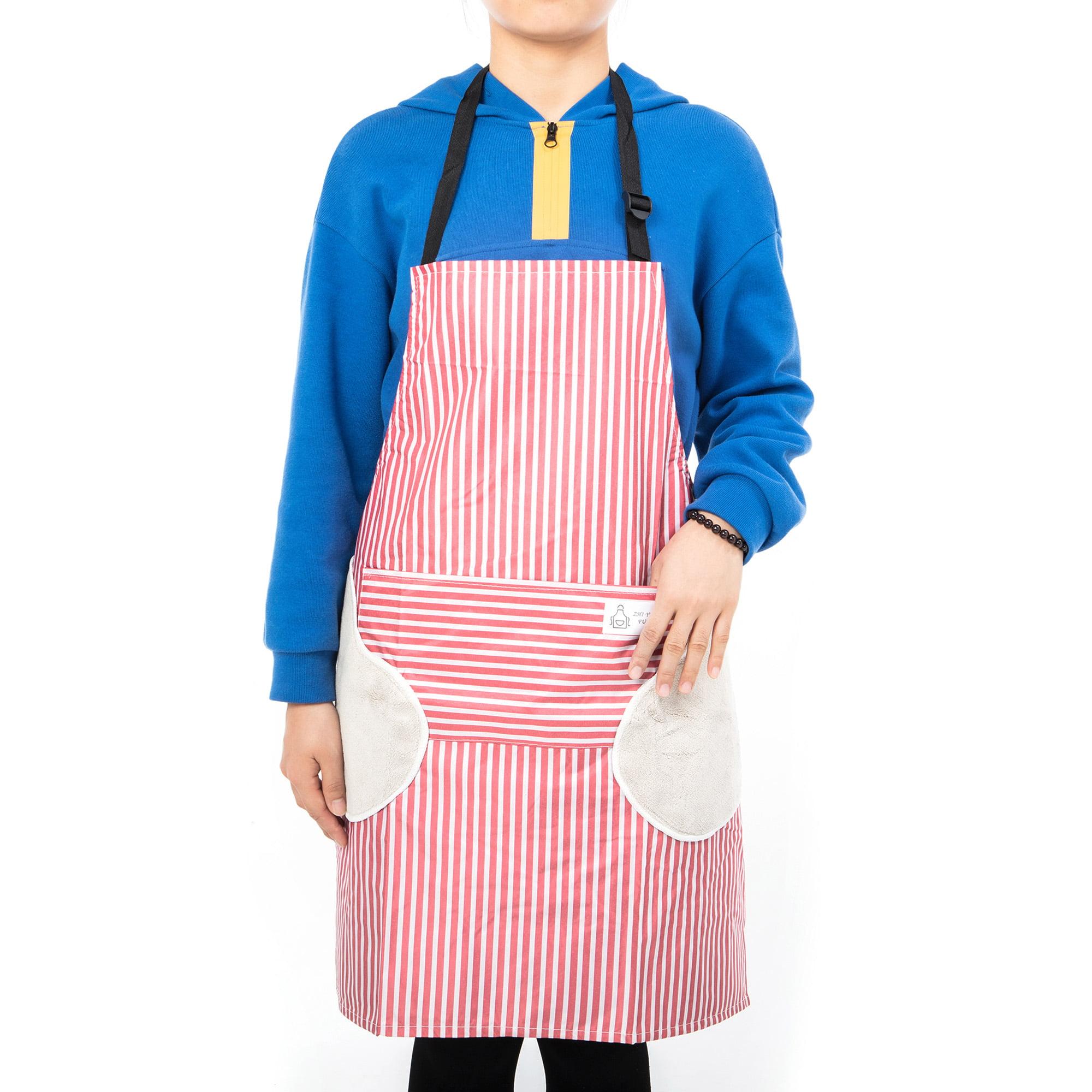 BBQ Baking Men /& Women Bib Apron for Cooking Crafting Machine Washable Work Shop Pink Transser Adjustable Kitchen Chef Apron with Pocket