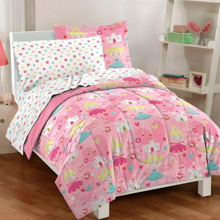 Dream Factory Pretty Princess Mini Bed In A Bag Bedding Set  Pink