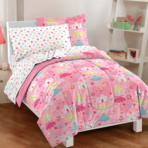 Dream Factory Pretty Princess Mini Bed in a Bag Bedding Set, Pink