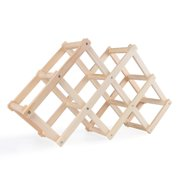Wooden Wine Bottle Holders Creative Practical Collapsible Living Room Decorative Cabinet Red Wine Display Storage Racks