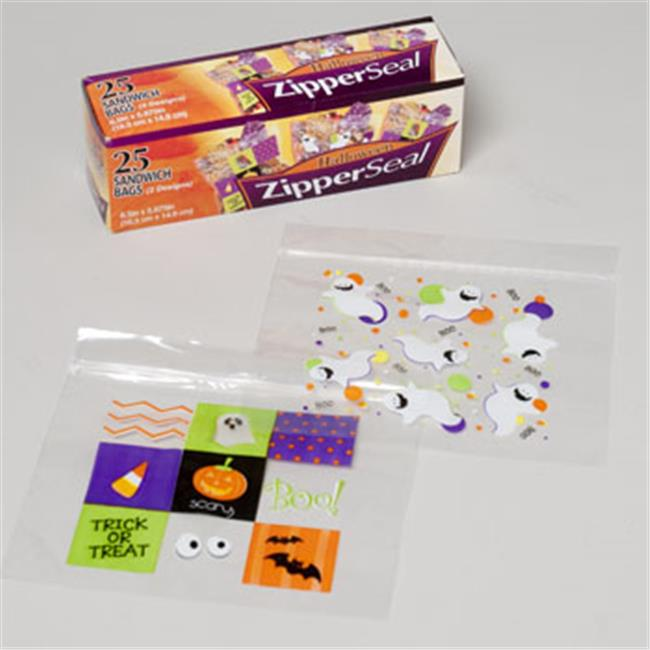 RGP G89606N Halloween Print Sandwich Bag, Pack Of 48
