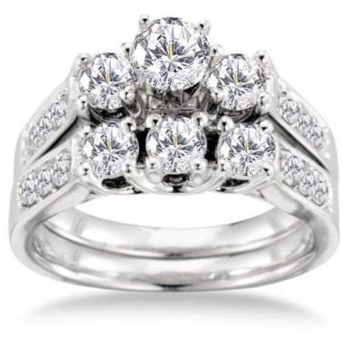 Keepsake Royal 1-1 2 Carat Diamond Bridal Set in 14kt White Gold by