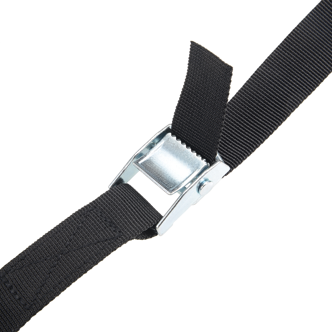 """UTILITY STRAP REAL LEATHER 25mm 1/"""" HEAVY DUTY NICKEL BUCKLE VARIOUS LENGTHS"""