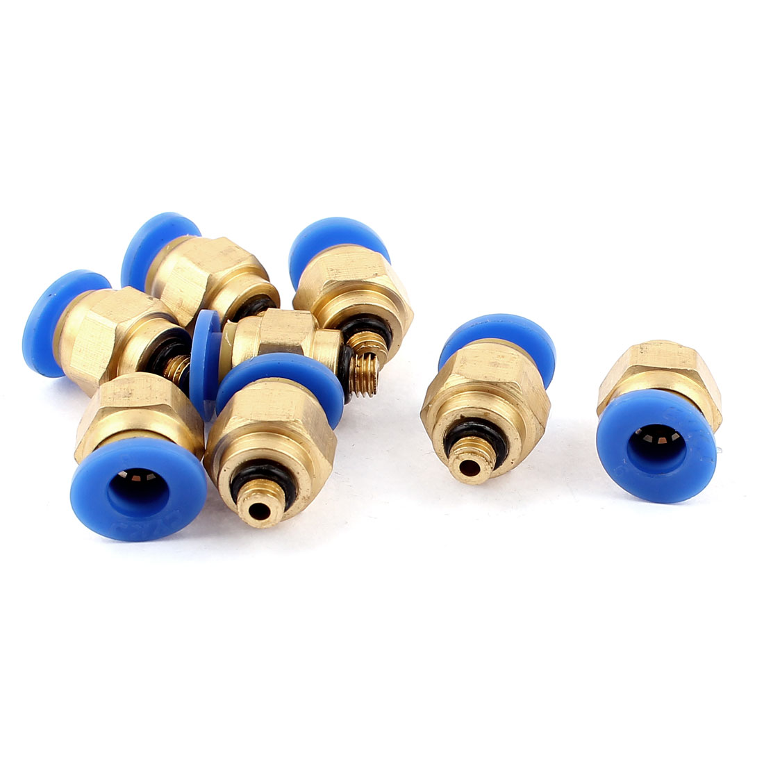 8 Pcs 6mm Tube to 1/16 BSP Thread Push in Quick Connect Coupler Fittings PC6-M5