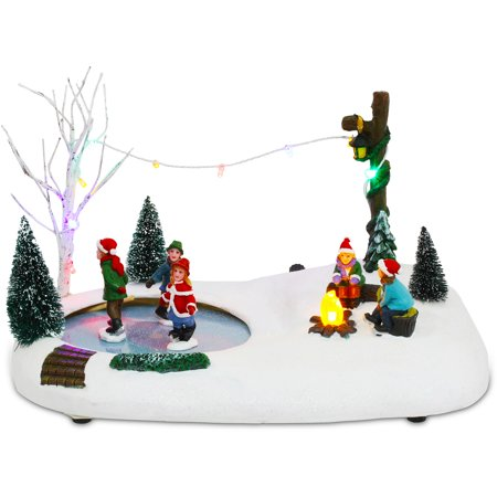 ice skating christmas centerpiece - Ice Skate Christmas Decoration