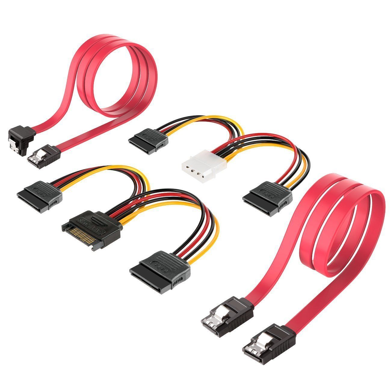 Inateck SSD / SATA III Hard Drive Connection Cables, 4 Pack(ST1003)