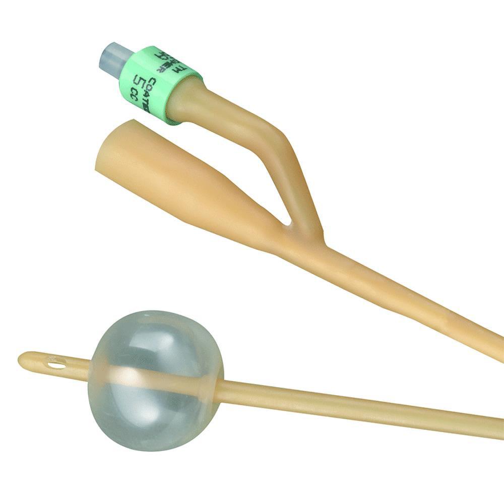 Bardia 2-way silicone-elastomer coated latex foley catheter 16 fr 5 cc part no. 123516a (1/ea)