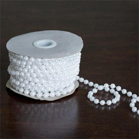 Efavormart 6mm Pearls 12 Yards String Beads Faux Pearl Beads for Party Favor DIY Decorations Supplies Jewelry Making