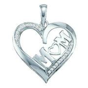 Gold and Diamonds PH2795-W 0.08CT-DIA HEART PENDANT- Size 7