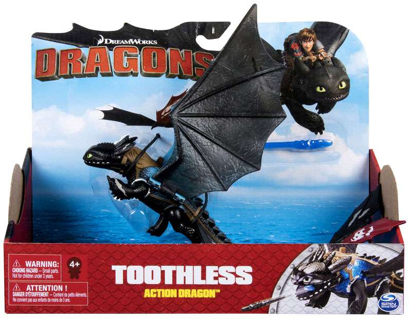 How to Train Your Dragon Action Dragon Toothless Action Figure by