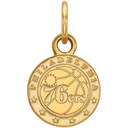 LogoArt NBA Philadelphia 76ers 14kt Gold-Plated Sterling Silver Extra Small Pendant