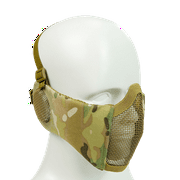 Bravo Airsoft Tactical Gear V4 Strike Metal Mesh Face Mask With Ear Protection ( Multicam )