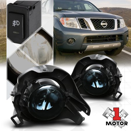 Smoke Tinted Fog Light Bumper Lamps w/Switch+Harness for 05-11 Nissan Pathfinder 06 07 08 09 (Nissan Pathfinder Lamp Bumper)