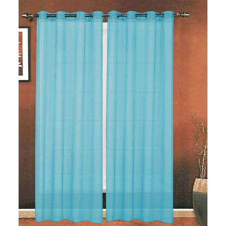 Elegant Comfort 174 Luxury 2 Piece Grommet Sheer Panel