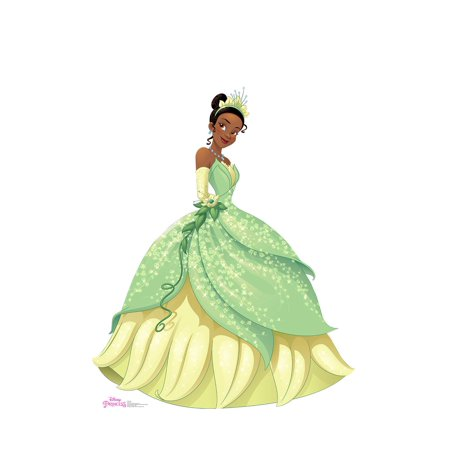 Disney Princess Tiana Life Size Cutout Stand Large Cardboard Cutout Party Prop Decor Birthday party Supplies, Disney's The Princess and the Frog Birthday decoration Size: 60