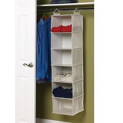 Household Essentials Natural Blended Canvas 6 Shelf Organizer Plastic Shelves Home Organizers Istilo105002