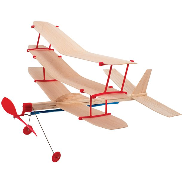 Airplane Design Studio Kit Over 35 Parts Balsawood Rubber Bands Wheels Walmart Com Walmart Com