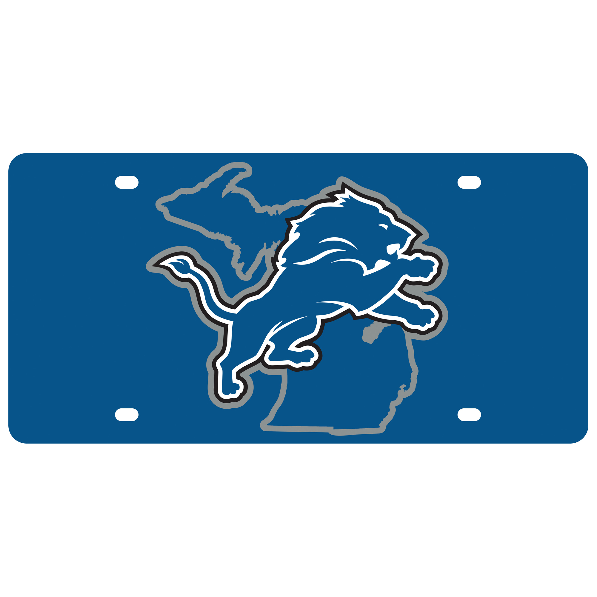 Detroit Lions State Pride License Plate - No Size
