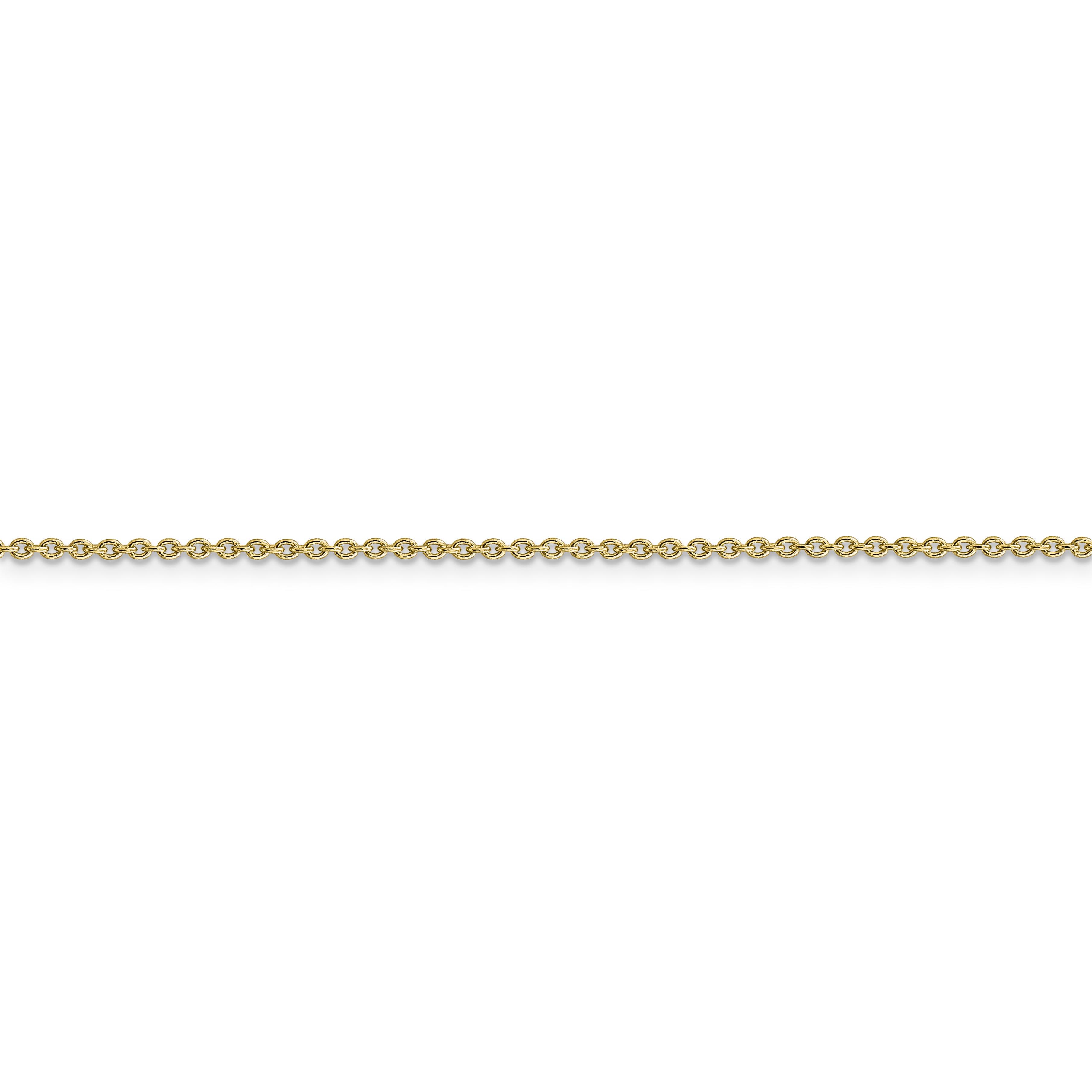 14K Yellow Gold 1.4 MM Solid Polished Cable Anklet Bracelet 9