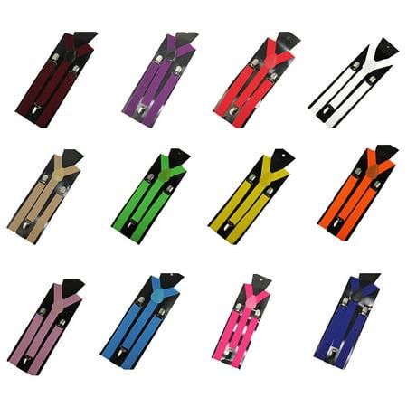 Aofa Unisex Elastic Y-Shape Braces Men\'s Women\'s Adjustable Clip-on Suspenders - image 7 de 7