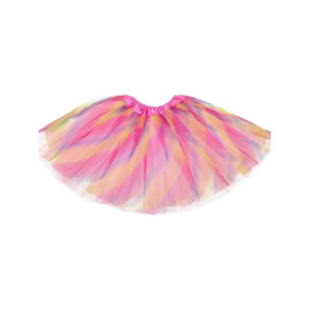Cargo Girls Skirt - Little Girls Pastel Rainbow Pink Satin Elastic Waist Ballet Tutu Skirt 2-8Y