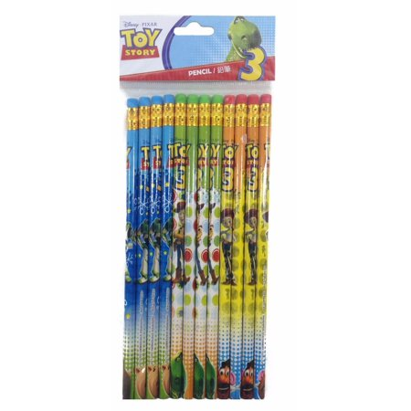 Disney Toy Story Character Authentic Licensed 24 Wood Pencils