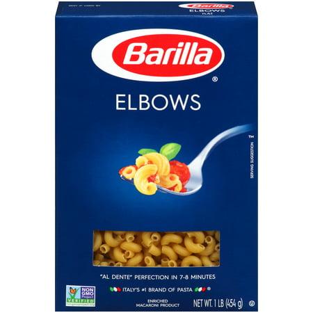 (4 pack) Barilla Pasta Elbows, 16 Oz (Halloween Pasta Noodles)