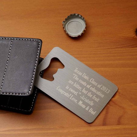 Personalized Secret Message Wallet Bottle Opener