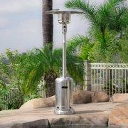 Belleze 48,000BTU Premium Outdoor Patio Heater LP Gas with Wheel, CSA Certified, Stainless Steel