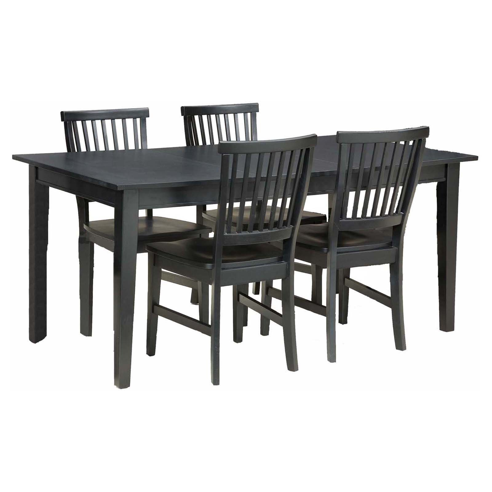 Home Styles Arts & Crafts 5 Piece Dining Set, Ebony
