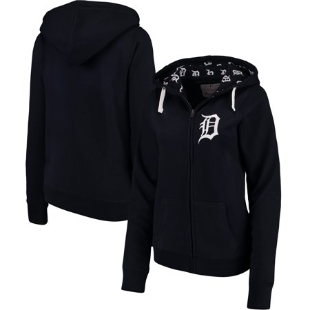 new products 7959a ddcea Detroit Tigers Soft as a Grape Women's Line Drive Full-Zip Hoodie - Navy