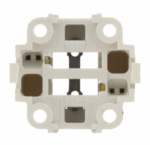 Leviton 26725-201 G24d-1 Base Compact Fluorescent Bottom Snap-In Light Socket