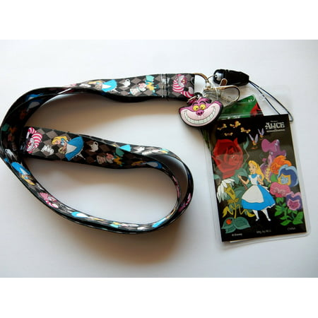 Lanyard - Disney - Alice in the Wonderland Black w/Soft Touch Dangle  - Disney Cars Lanyards