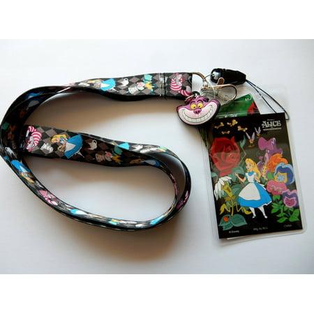 Lanyard - Disney - Alice in the Wonderland Black w/Soft Touch Dangle  25304