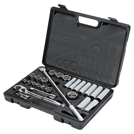 21 Piece 12 Point Socket (26 Piece Socket Sets, 1/2 in, 6 Point, 12 Point )