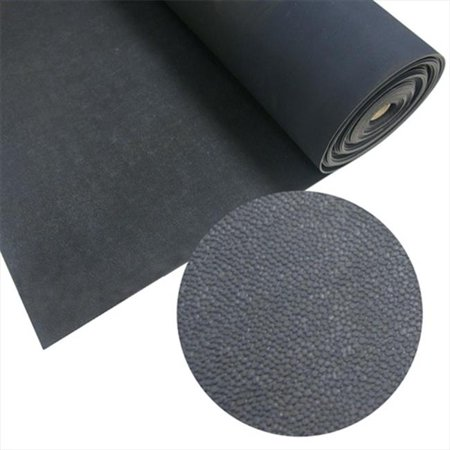 Rubber Cal Tuff N Lastic Rolled Flooring Runner Mat Black