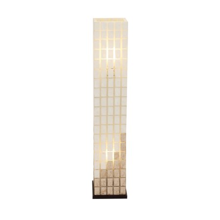 The Beautiful Metal Capiz Tower Floor Lamp